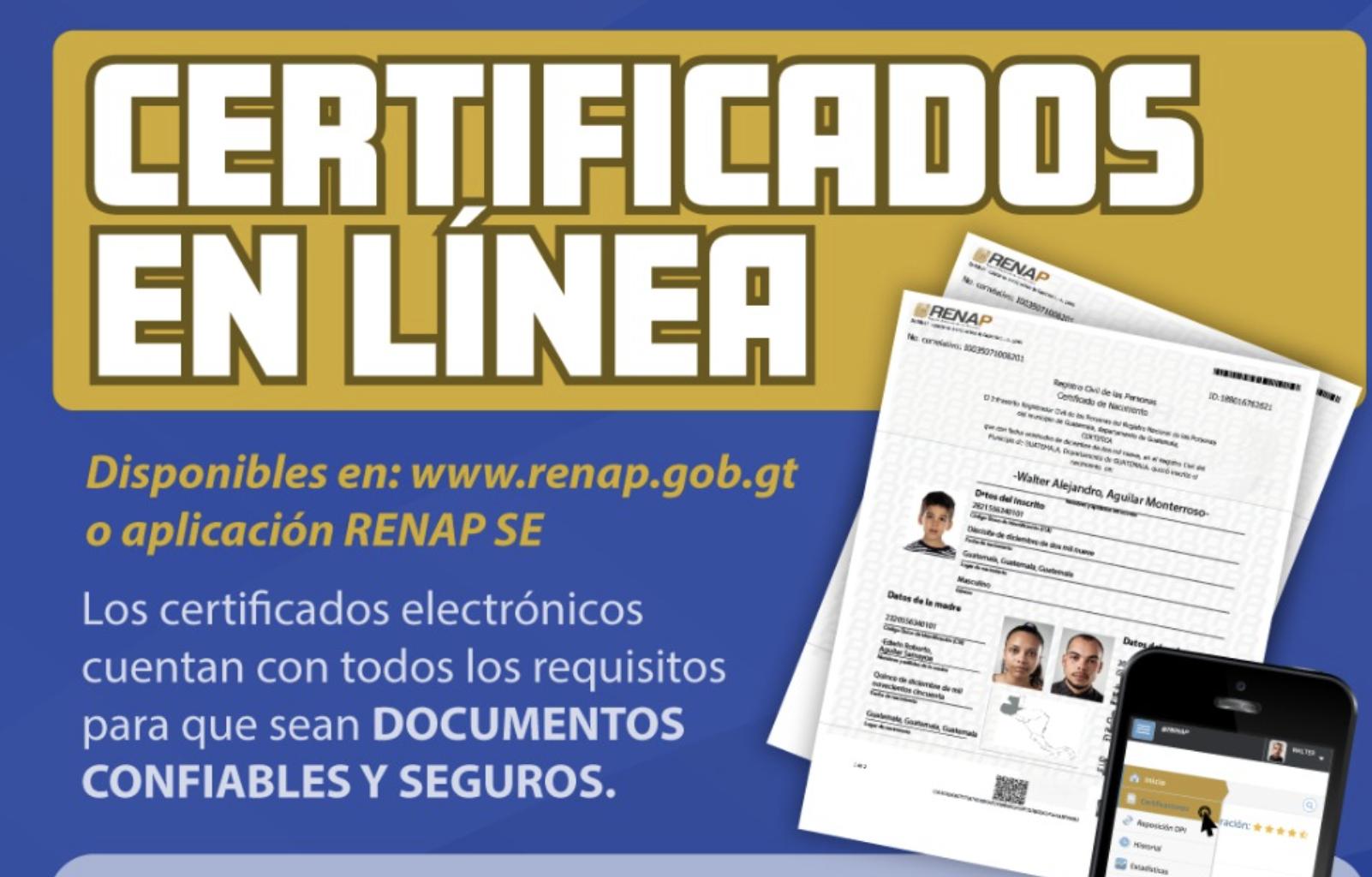 certificados en línea de RENAP son legítimos