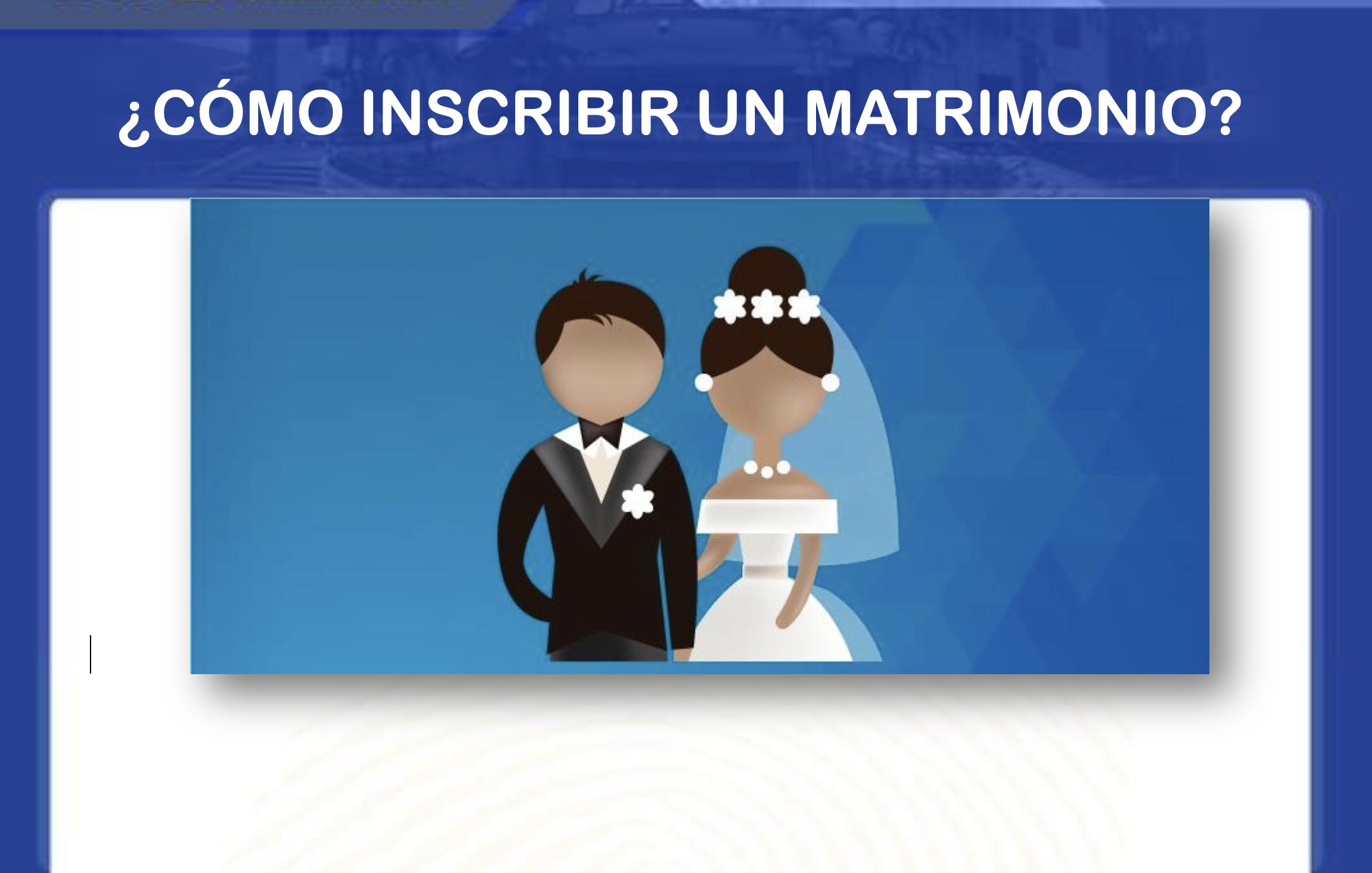 como inscribir un matrimonio en RENAP