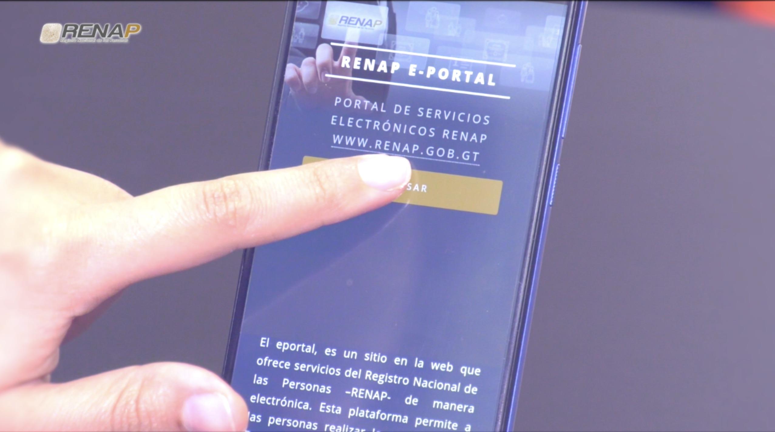 servicios en línea de RENAP